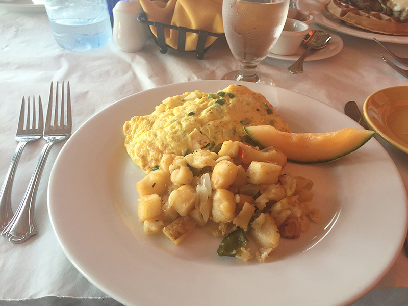 Lobster Omelette with Potato Hash