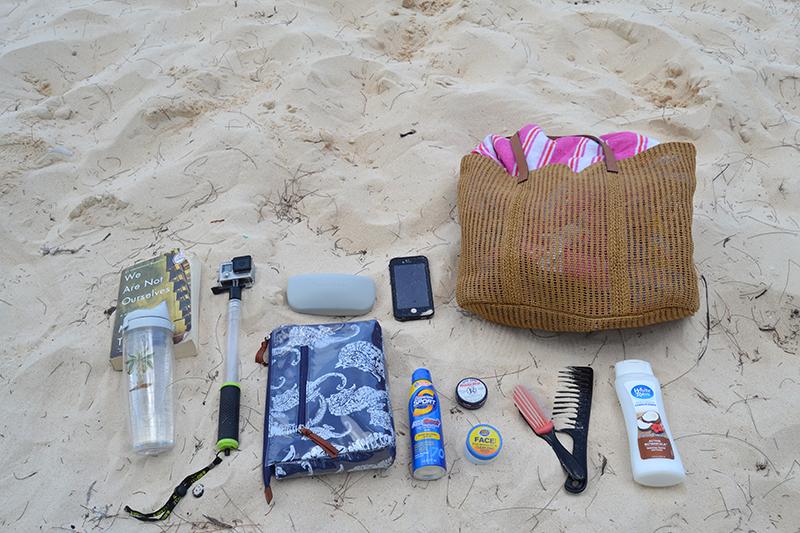 Beach Bag Essentials - Summer 2016 -flat lay