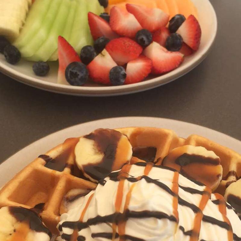 The Coffee Bar - Waffles & Fruit Plate
