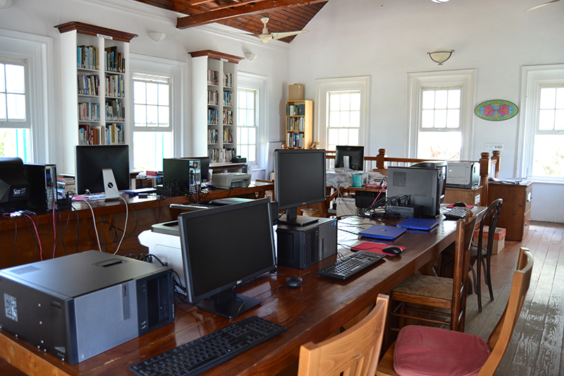 Upstairs Tech Area - Haynes Library