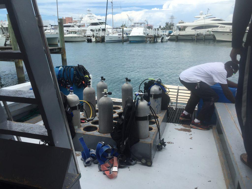 Scuba Certification -boat setup