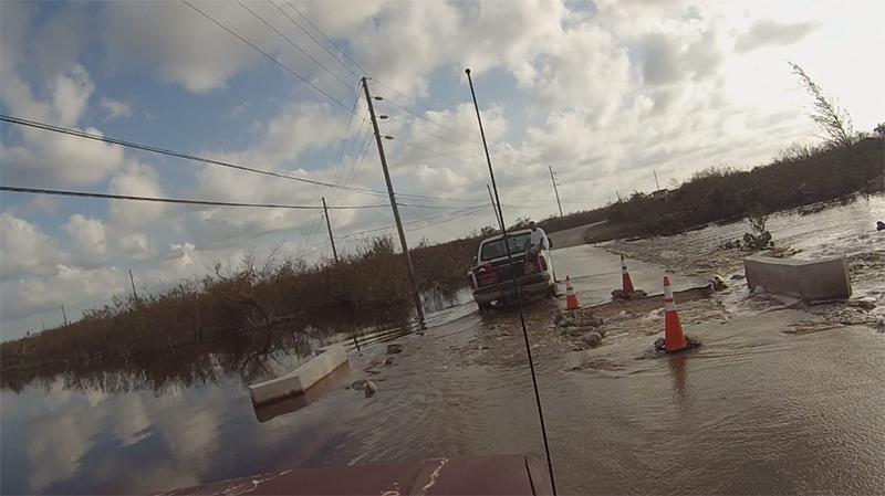 Hurricane Matthew - Joaquin 2015 eroded roadway