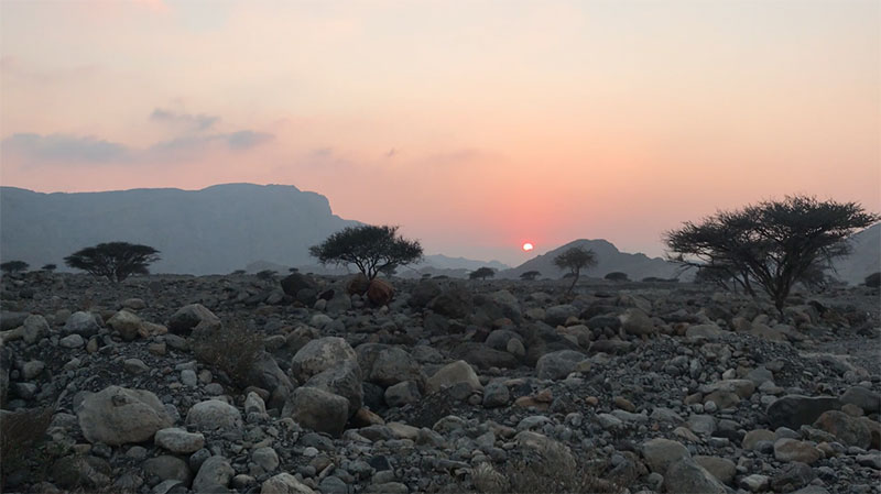 U.A.E---Sunset-in-Jais-Mountains
